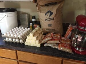 Huge preparation for the banana bread!